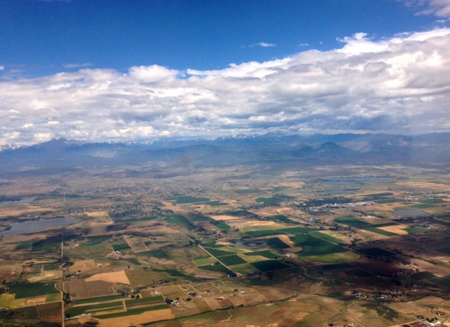 The Rockies, from Boulder