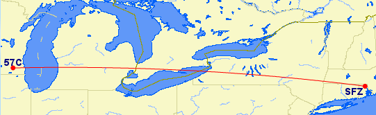 Great Circle Route, KSFZ-57C