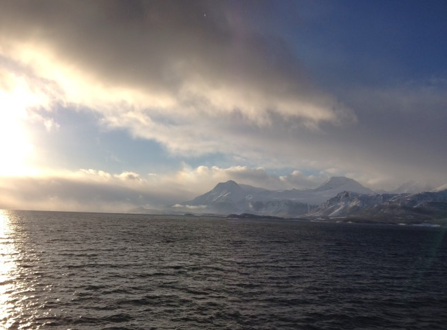 The view on the ferry crossing the fjord.